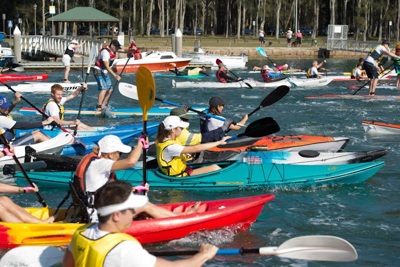 Pittwater Paddle kayaking event